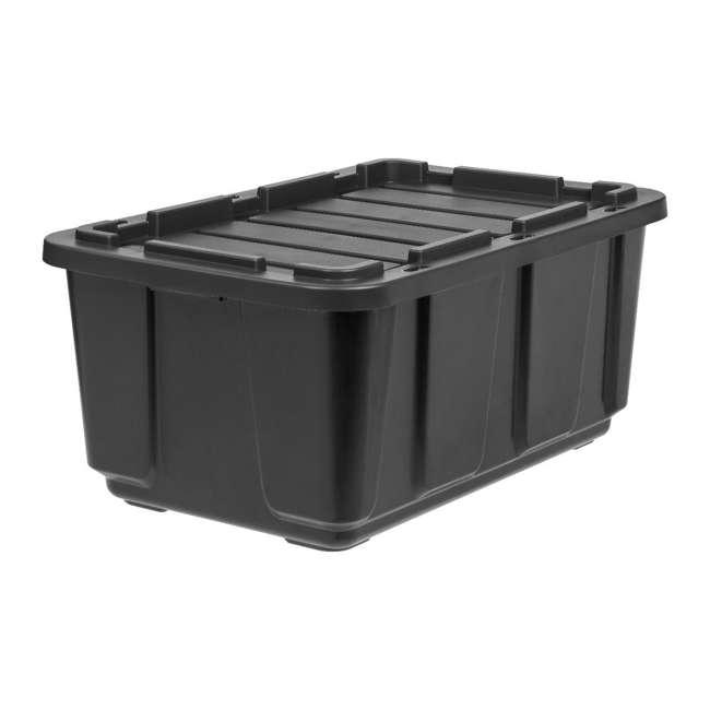 4 x 589090 IRIS USA 589090 27 Gallon Utility Tough Stackable Plastic Storage Tote, Black 1