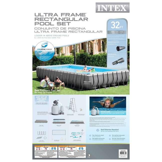 26375EH + QLC-57630 Intex 32'x16'x4.3' Ultra Frame Above Ground Pool w/ Sand Pump & Winterizing Kit 8