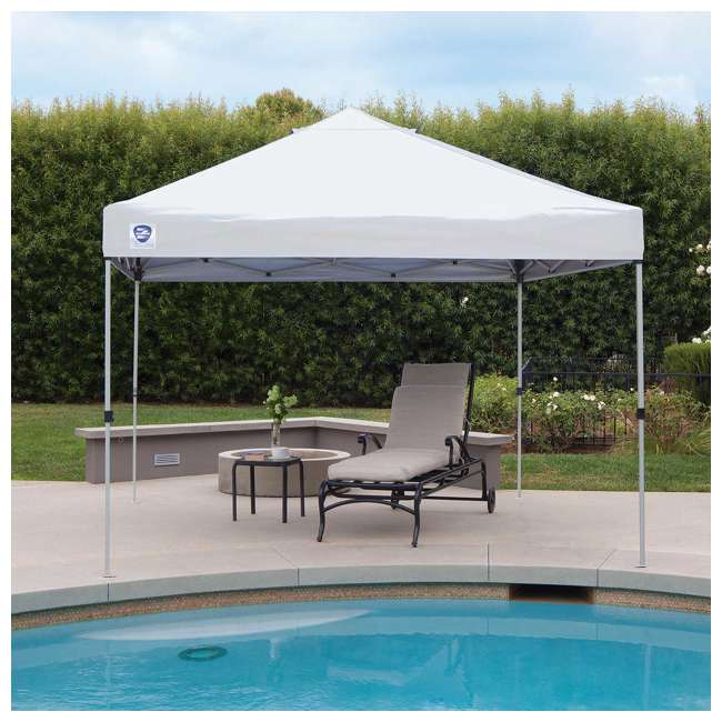 ZS1010PKWH-U-A Z-Shade 10' x 10' Peak Canopy Instant Portable Shelter (Open Box) (2 Pack) 4