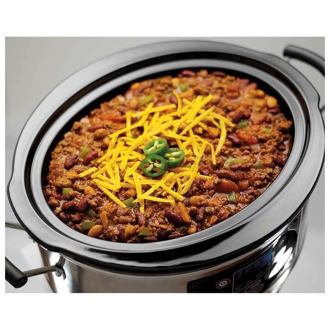 33473 + SLOWCOOKER175 Hamilton Beach Countertop 7 Qt Programmable Slow Cooker & 175 Recipe Cookbook 5