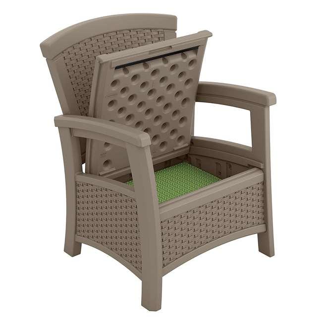 BMCC1800DT Suncast BMCC1800DT Elements Wicker Design Club Chair with Storage (2 Pack) 2
