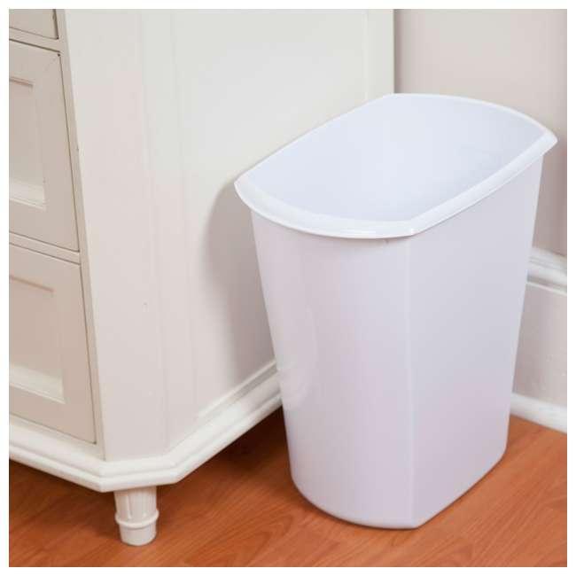 6 x 10528006-U-A Sterilite 5.5 Gallon White Ultra Plastic Wastebasket Trash Can(Open Box)(6 Pack) 2