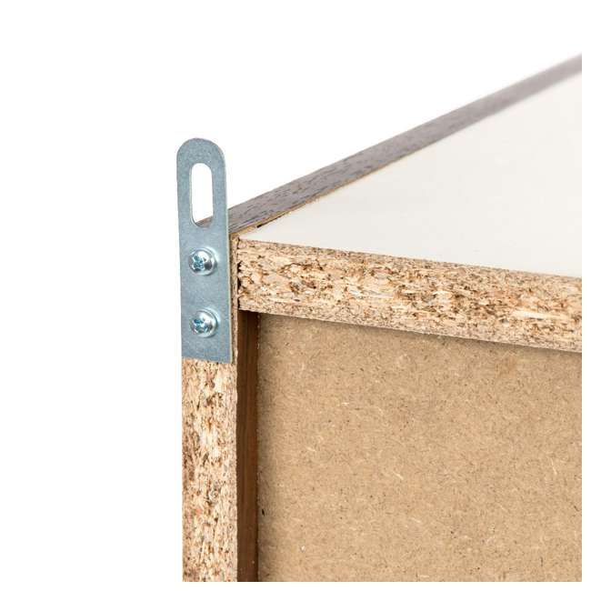 596308 IRIS USA 596308 Space Saving Adjustable Stackable Shelf Organizer, Walnut Brown 5