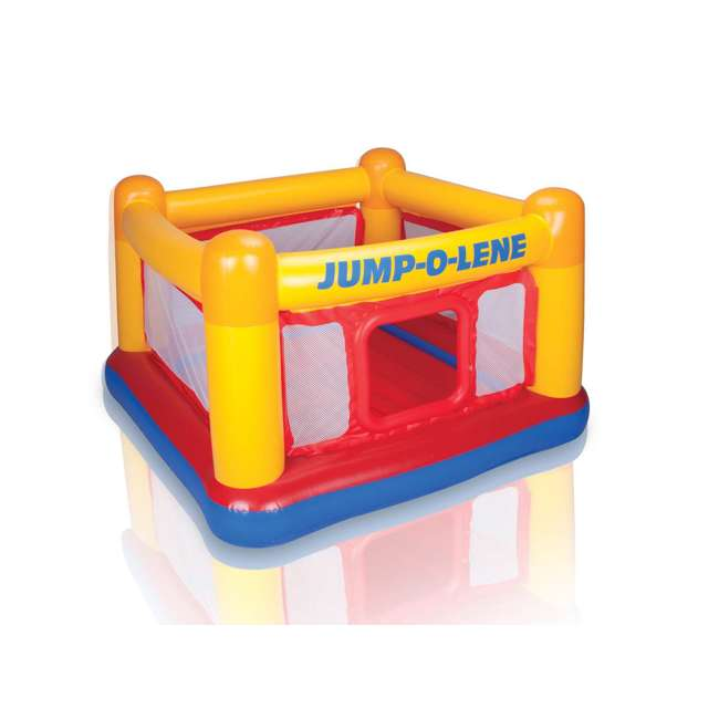 48260EP INTEX Inflatable Jump-O-Lene Ball Pit Playhouse Bouncer House (Open Box) (2 Pack) 1