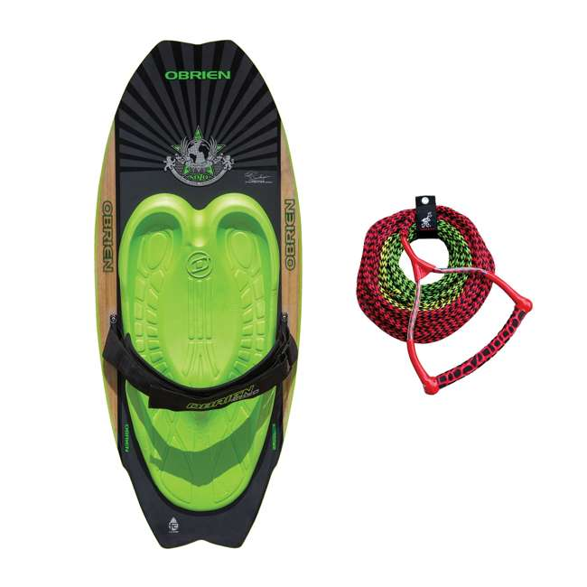 2161228-MW + AHSR-3 O'Brien 51 Inch Sozo Pro Series Towable Kneeboard + Water Ski Wakeboard Rope