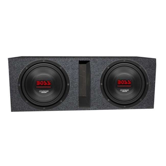 CH10DVC + QBASS10 Boss CH10DVC 10-Inch 3000W Subwoofers with Vented Box Enclosure (Package)