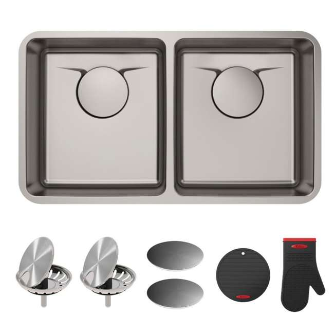 KD1UD33B-OB Kraus Dex 33-Inch Undermount Double Bowl Stainless Steel Sink (OPEN BOX)