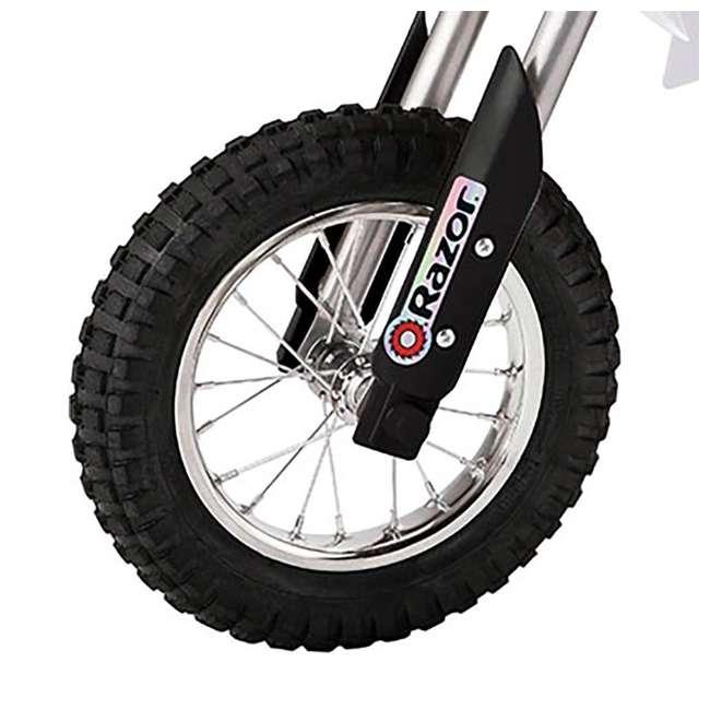 15128008 + 97775 Razor MX400 Dirt Rocket Electric Motorcycle, White + Helmet 6