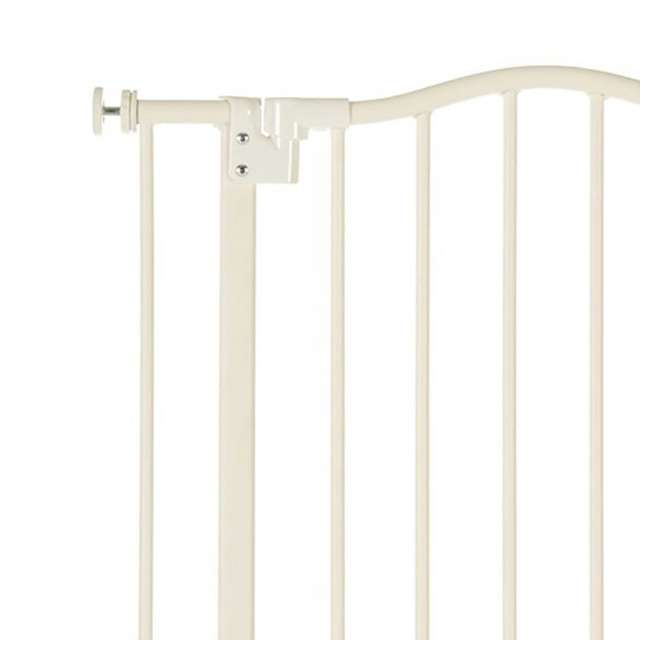NS-4978 + NS-4974 North States Portico Arch Tall & Wide Safety Gate & 13.42 Inch Extension, Ivory 2