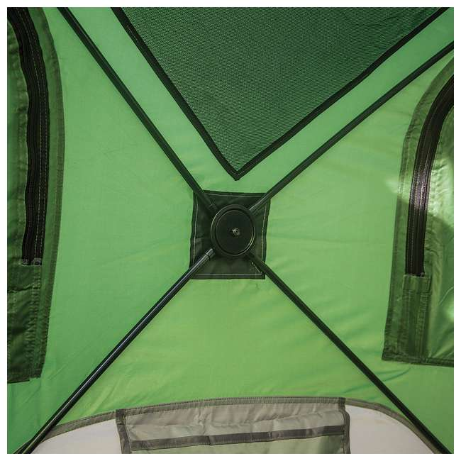 GAZL-30400-U-B Gazelle Tents T4 Pop-Up Hub 4-Person Outdoor Camping Tent, Green (Used)