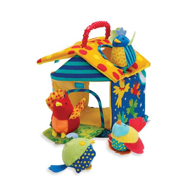 201110 Manhattan Toy Put and Peek Soft Interactive Birdhouse with 4 Colorful Birds 4