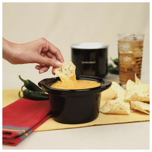 33100 Proctor Silex 2-Cup Dip and Food Warmer, Black 3