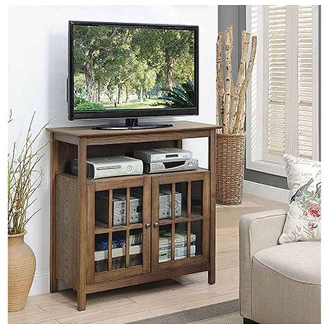 R3-0192 Convenience Concepts R3-0192 Big Sur Highboy TV Stand, Driftwood 1