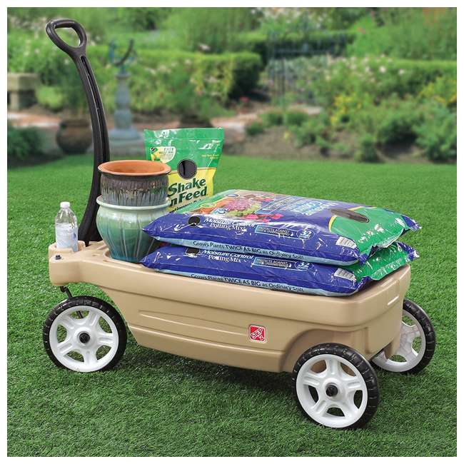 837200-U-A Step2 Whisper Ride Touring Wagon II 3-in-1 Toddler Outdoor Canopy Pull Wagon (Open Box) 6