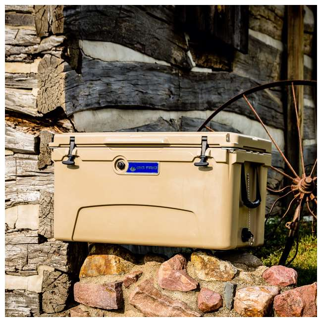 BFDB45-SD Big Frig Denali 45 Quart Insulated Cooler with Cutting Board and Basket, Sand 3