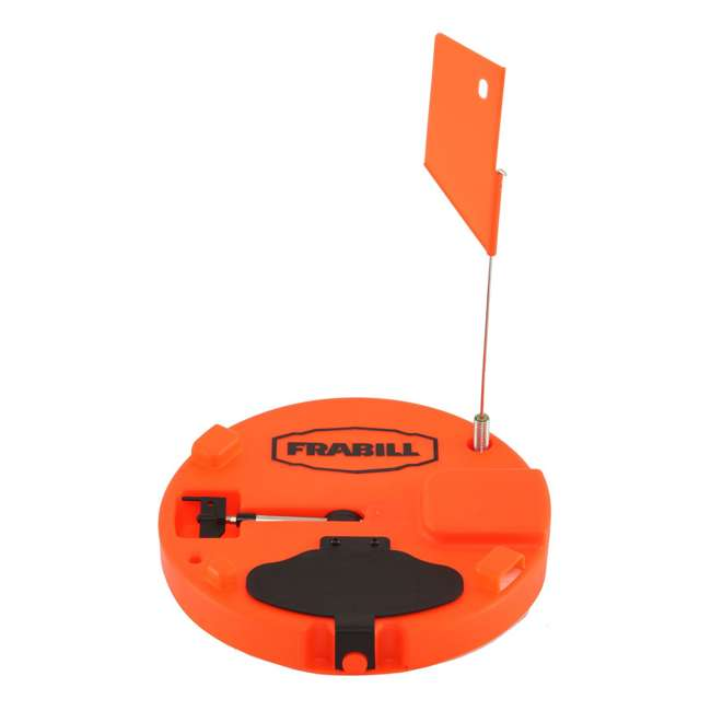 "4 x 1660 Frabill Insulated Ice Fishing Tip Up Trap for Up to 10"" Hole, Orange (4 Pack) 1"