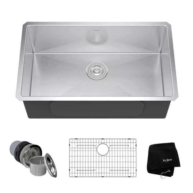 "KHU100-30-OB KRAUS Standart PRO 30""  Undermount Single Stainless Steel Sink (OPEN BOX)"
