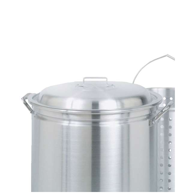 1182-U-C Bayou Classic 82 Qt Stainless Steel Stockpot Soup Pot w/ Lid Basket (For Parts) 1