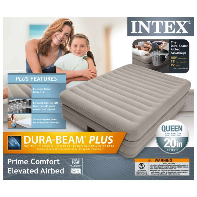 64445E Intex Prime Comfort Elevated Queen Airbed with Built-In Pump 8