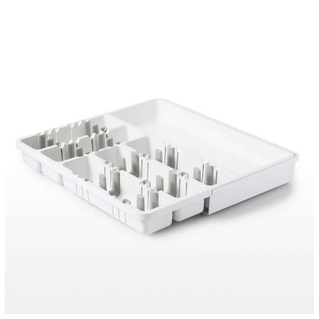 13153400 OXO 13153400 Good Grip Large Expandable Kitchen Utensil Storage Organizer, White 2