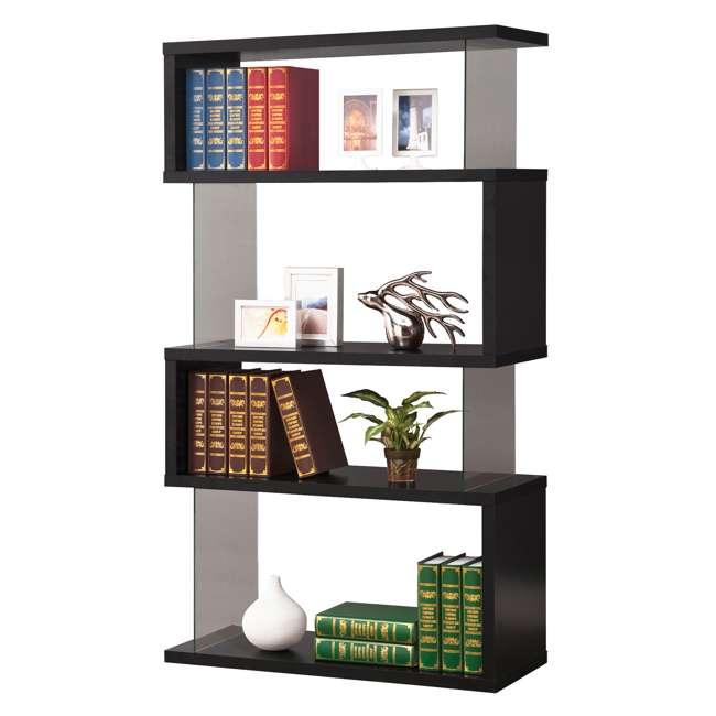 CH-800340-U-B Coaster Home Furniture Asymmetrical Snaking Living Room Bookshelf, Black (Used) 4