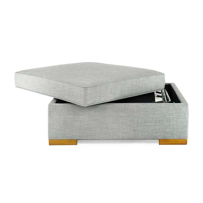 PC222-U-B SpaceMaster iBed Ottoman Fold Out Hideaway Guest Bed, Gray Fabric (Used) 3