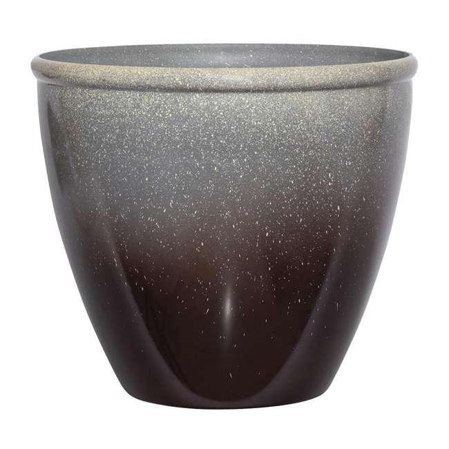 1606BP36 Seneca 16-Inch Ombre Planter Flower Pot, Bronze/Brown  (6 Pack) 1