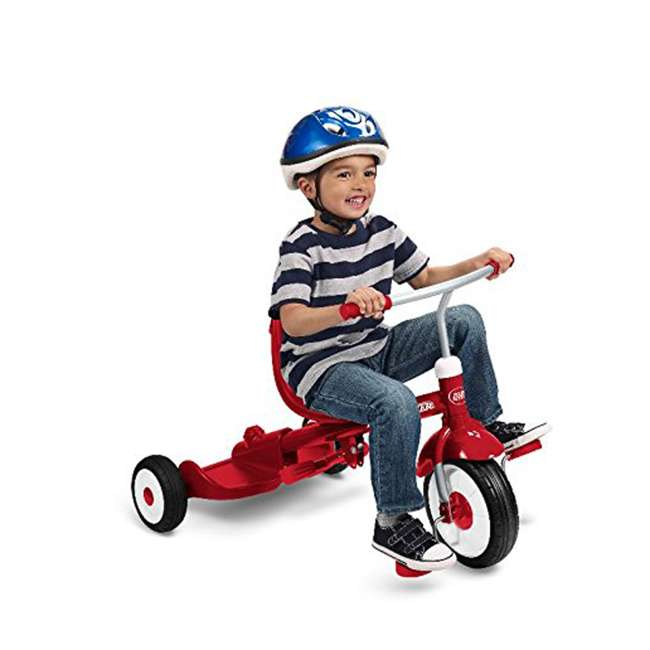 499 Radio Flyer 499 Kids' Toddlers Ride and Stand Stroll 'N Trike, Red 5