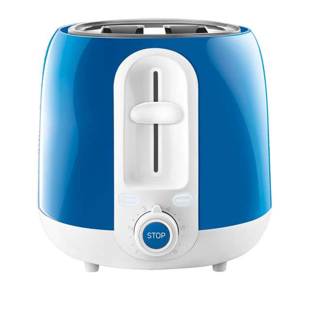 STS2702BL-NAA1 Sencor STS2702BL Electric Toaster with Electronic Timer and Crumb Tray, Blue 1