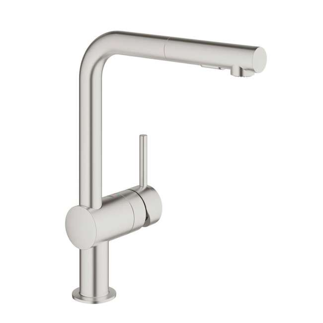 30300DC0-OB Grohe Minta Single Handle Kitchen Stainless Steel Anti Lime Faucet (OPEN BOX)