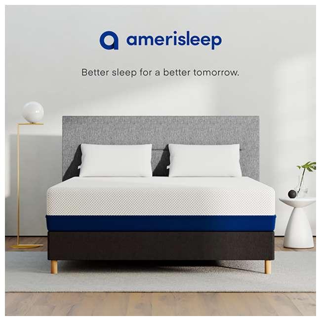 AS4-F Amerisleep AS4 Medium Softness Bio Core HIVE Foam Full Size Mattress, White 6