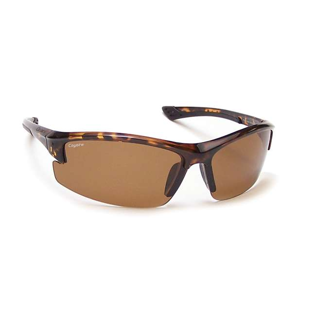 Glacier tortoise/brown Coyote Eyewear TR-90 Polarized Sport Premium Sunglasses, Tortoise and Brown