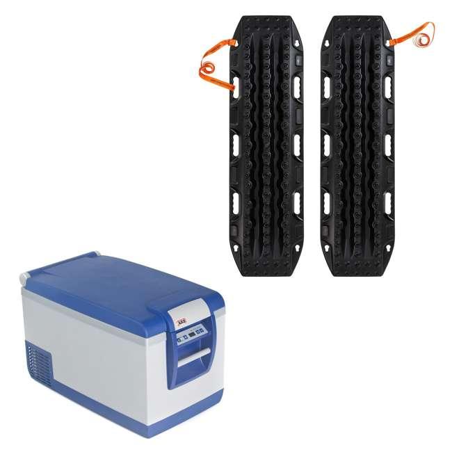 10800602-ARB + MTX02BK ARB Portable 63 Qt. Car Travel Fridge Freezer & MAXTRAX Vehicle Recovery Device