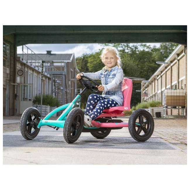 24.20.64.00 Berg Toys Buddy Lua Pedal Powered Kids Go Kart Toy, Pink and Mint 6