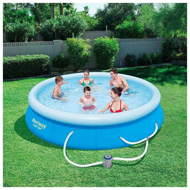 57275E-BW-U-A Bestway 12' x 30' Inflatable Above Ground Pool w/ Filter Pump(Open Box) (2 Pack) 1