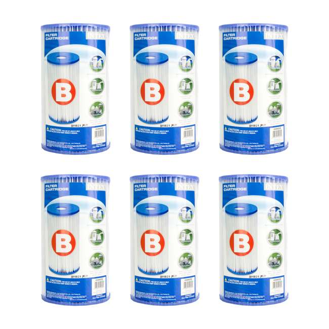 3 x 29005E-6pk Intex Pool Easy-Set Type B Replacement Filter Cartridge (18 Pack) 1