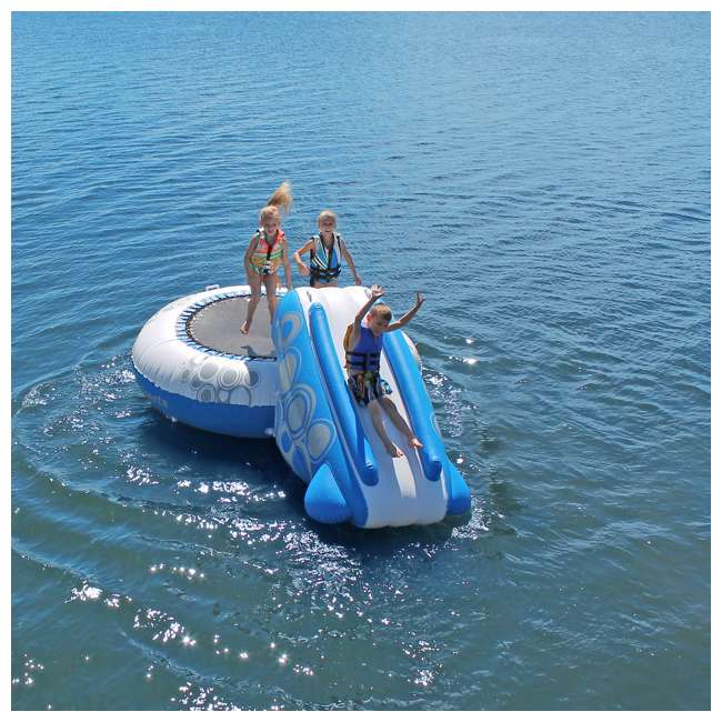 02438-RV Rave Sports O-Zone Plus Inflatable Water Trampoline with Slide 3