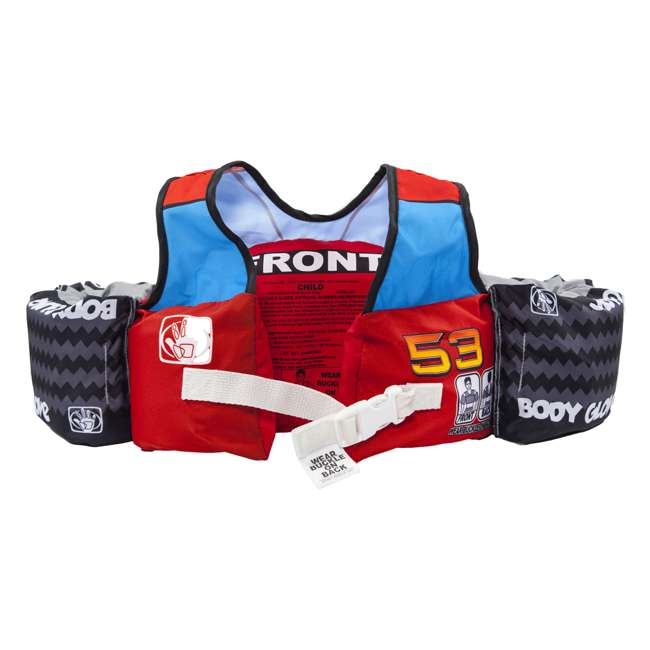 13226H-Car Body Glove Paddle Pals Childs Racecar Swim Training Life Jacket & Arm Floaters 1