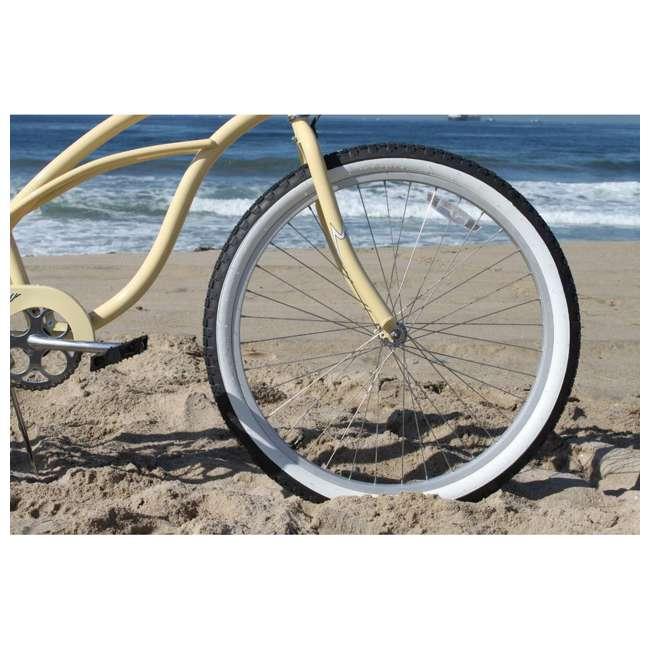 "15007 Firmstrong Urban Lady Women's 24"" Beach Cruiser Bike, White 4"