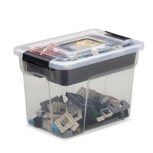 12 x FBA32235 Ezy Storage Sort It 3 Liter Container Box Bin with Removable Tray (12 Pack) 2