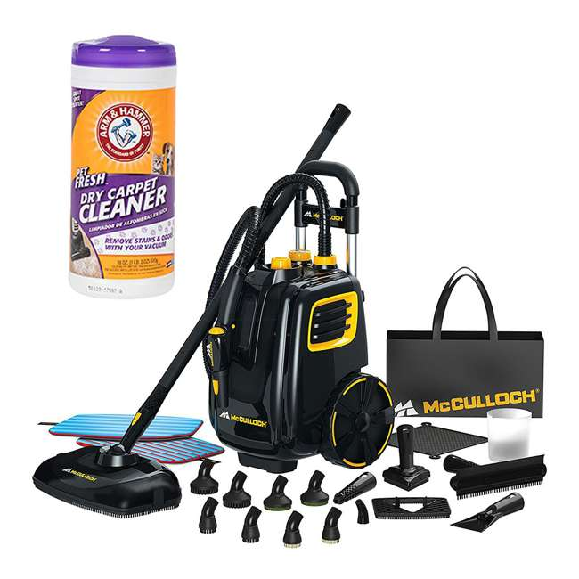 Mcculloch Deluxe Canister Steam Cleaner System W Dry