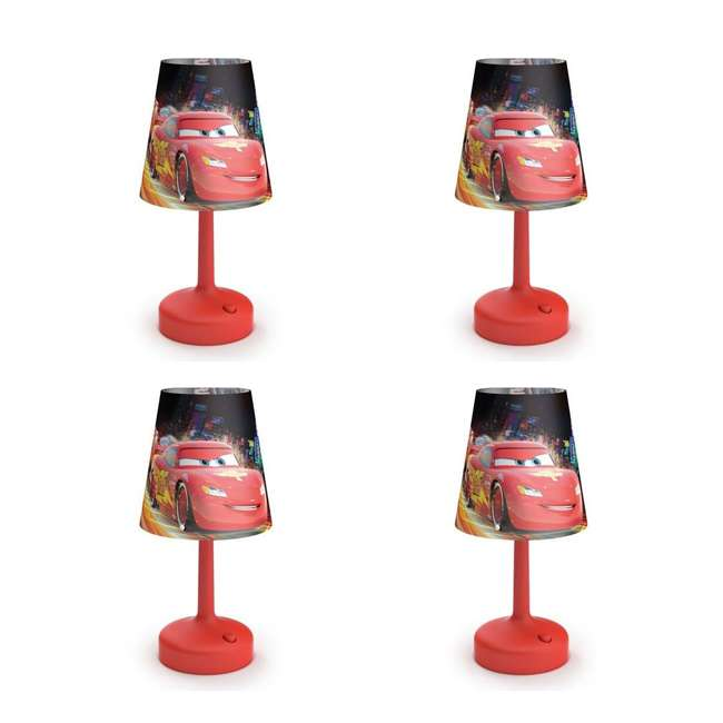4 x PLC-7179632U0 Philips Disney Cars Kids Table Lamp with Shade (4 Pack)
