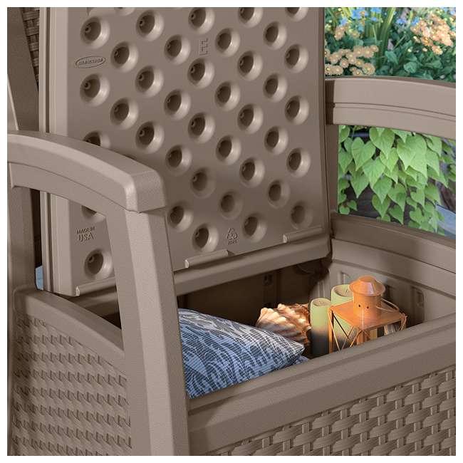 BMCC1800DT Suncast BMCC1800DT Elements Wicker Design Club Chair with Storage (2 Pack) 4