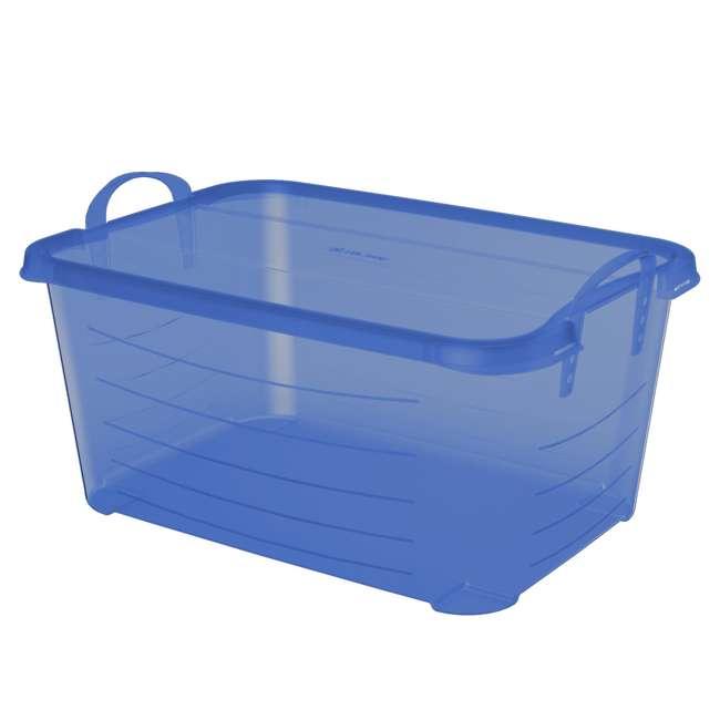 4 x CS-50TB Life Story Blue Closet Organization & Storage Box Container, 55 Quart (4 Pack) 5