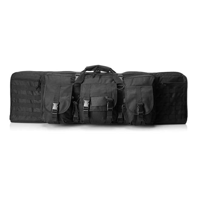 CVDC2946B-46 NcSTAR VISM 46 Inch Double Rifle Carbine Padded Soft Gun Case Carry Bag, Black
