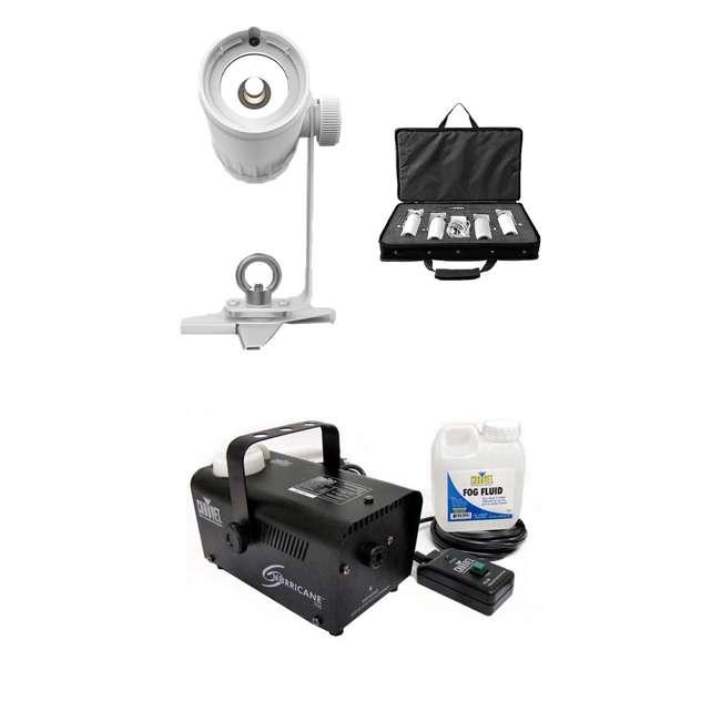 EZPIN-PACK4 + H700 Chauvet DJ Pack Spot Stage Lights + Fog Machine