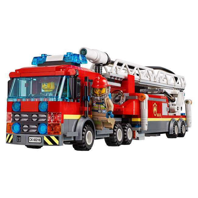 6251474 LEGO City 60216 Downtown Fire Brigade Block Building Kit with 7 Minifigures 2