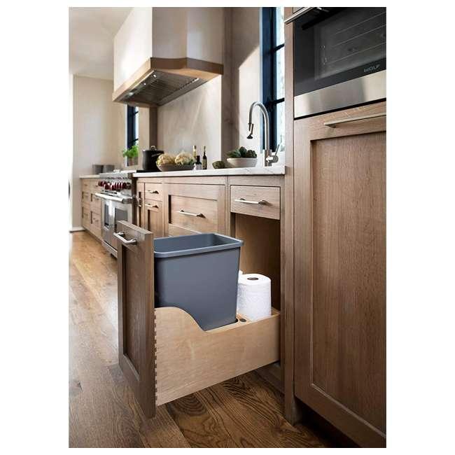 4WCSC-1535DM-12 Rev-A-Shelf 4WCSC-1535DM-12 35 QT Undermount Pull-out Waste Container, Maple 1