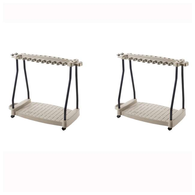 RTC1000 Suncast 150-Pound Capacity Garden Yard Cart Rolling Tool Rack (2 Pack)