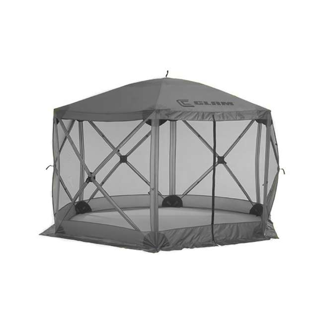 CLAM-ES-114246-U-B Clam Quick Set Escape Portable Camping Outdoor Gazebo Canopy Shelter, Gray(Used)